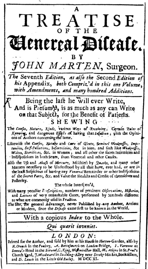treatise-of-the-venereal-disease-john-marten