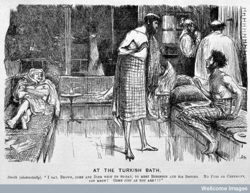 "L0005395 Punch, 1866: ""At the Turkish Bath"""